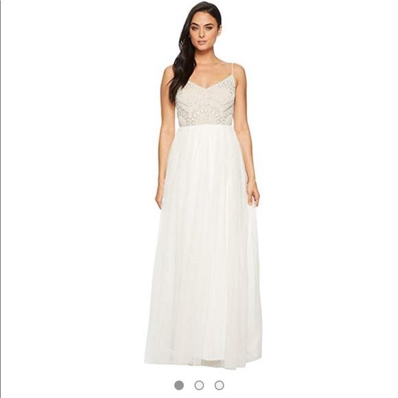 a350e421 Adrianna Papell Dresses | Beaded Top Spaghetti Strap Dress | Poshmark